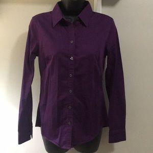 Banana Republic Purple Button Down Shirt